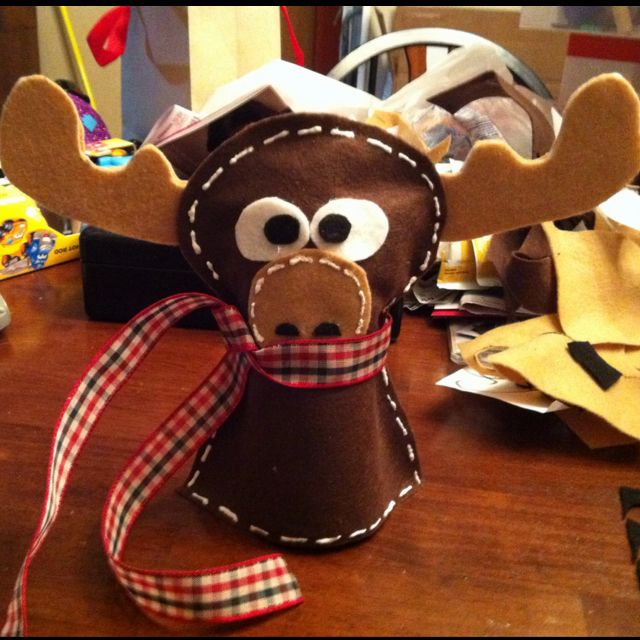 Moose tree topper made out of felt. - Moose Tree Topper Made Out Of Felt. Crafts Pinterest Tree