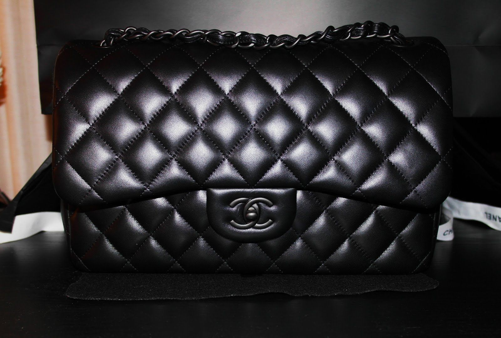 3f58096e4dac 2013 Unboxing CHANEL Limited Edition  So Black  Classic Flap with ...