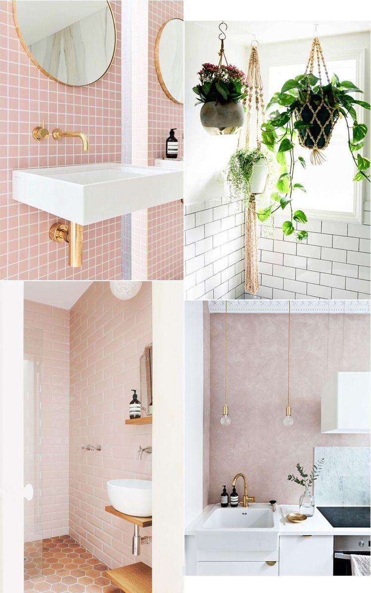 pink bathroom  lyserødt badeværelse gæstetoilet