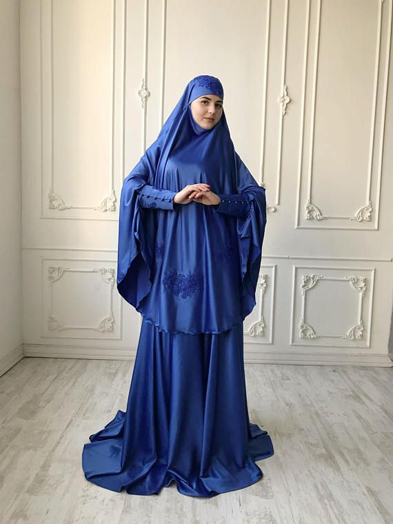 a927a540cf784 Elegant royal blue Muslim suit