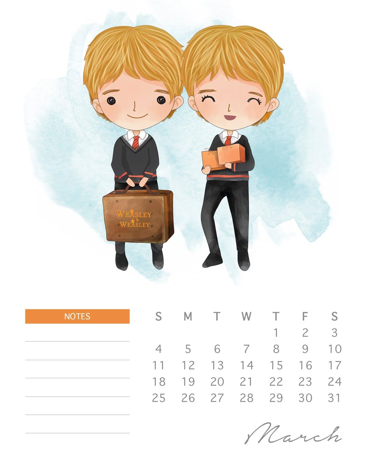 Calendario Harry Potter.Calendario 2018 De Harry Potter Para Imprimir Gratis
