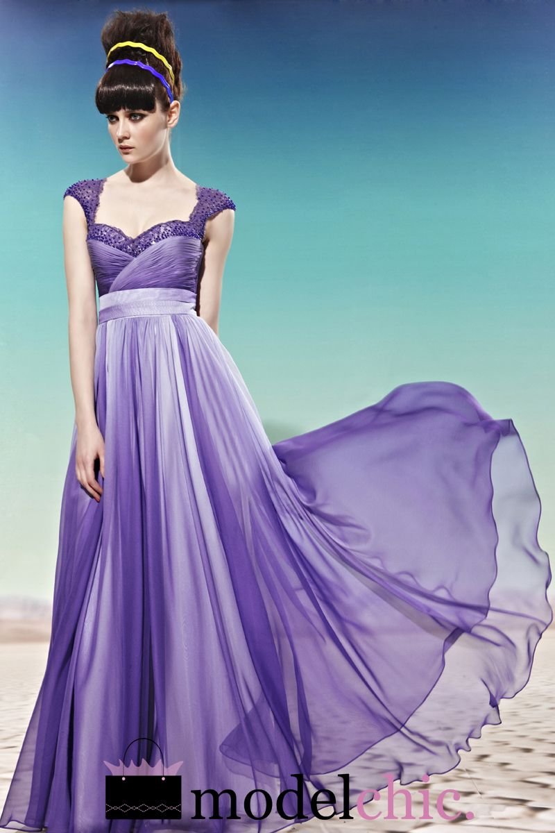 Purple Ombre Chiffon Evening Dress | eBay. i need a reason to buy ...