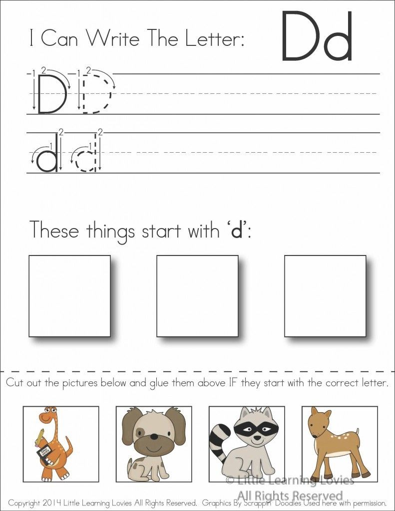 subscriber exclusive freebie letter d write cut paste writing activities in my class. Black Bedroom Furniture Sets. Home Design Ideas