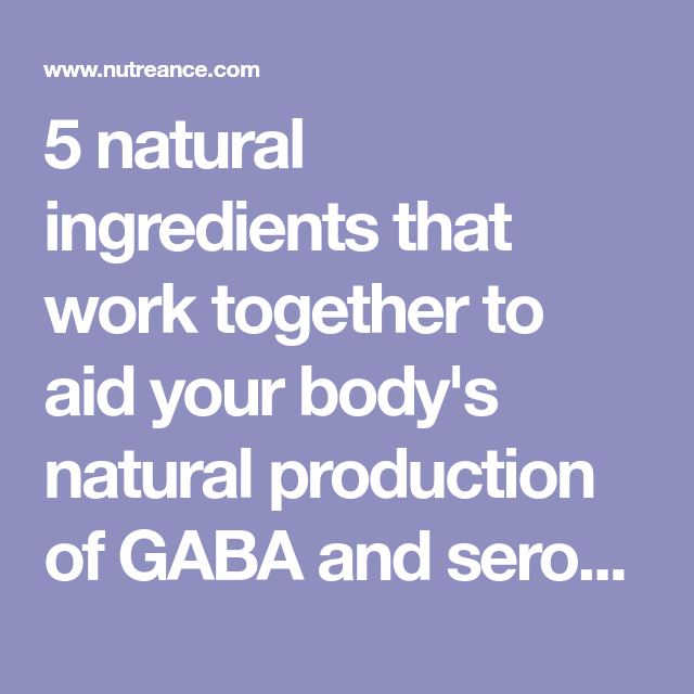 5 natural ingredients that work together to aid your body's