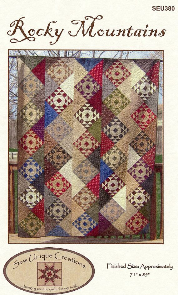 Rocky Mountains Quilt Pattern Pdf Reproduction Traditional Style