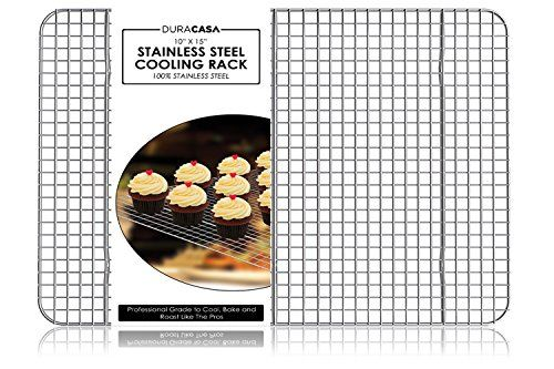 Baking Rack Cooling Rack Stainless Steel 304 Grade Roasting Rack Heavy Duty Oven Safe Commercial Quality