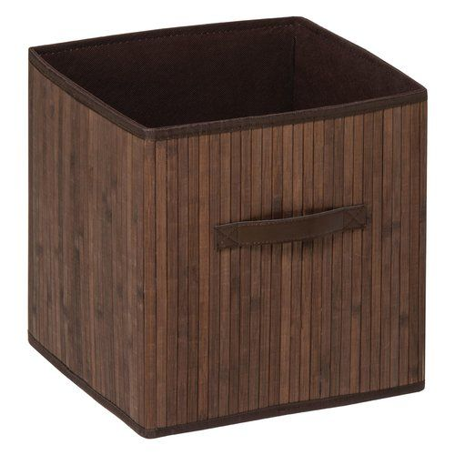 Waldo Wicker/Fabric Storage Basket With Effect Handles Beachcrest Home  Colour: Brown