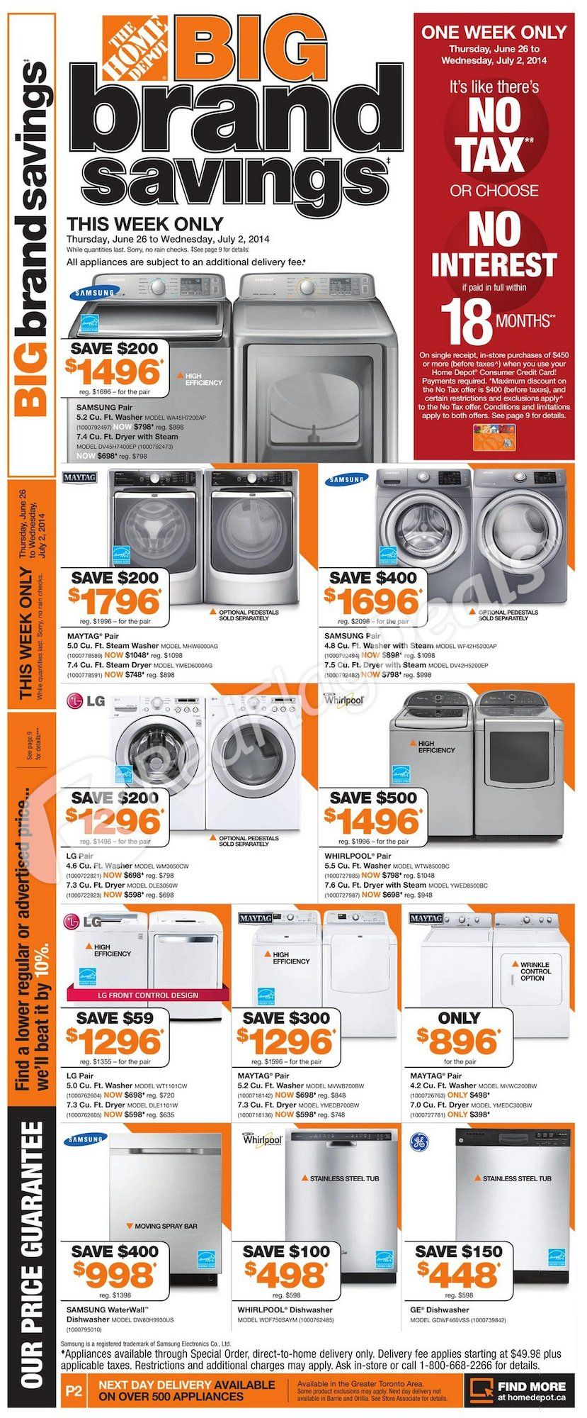 Home Depot Weekly Flyer Celebrate Canada Day Redflagdeals Com Weekly Flyer Flyer Day