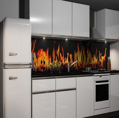 Selbstklebende Küchenrückwand Folie Möbel  Wohnen Kuechenrueckwand - glasbilder für küche