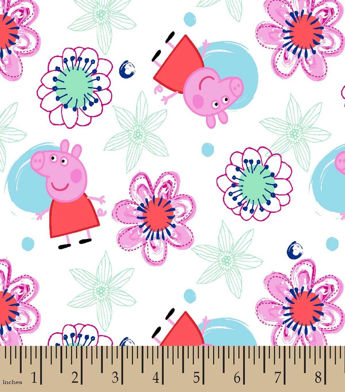 Peppa Pig Floral Print Fabric Printing On Fabric Floral Print