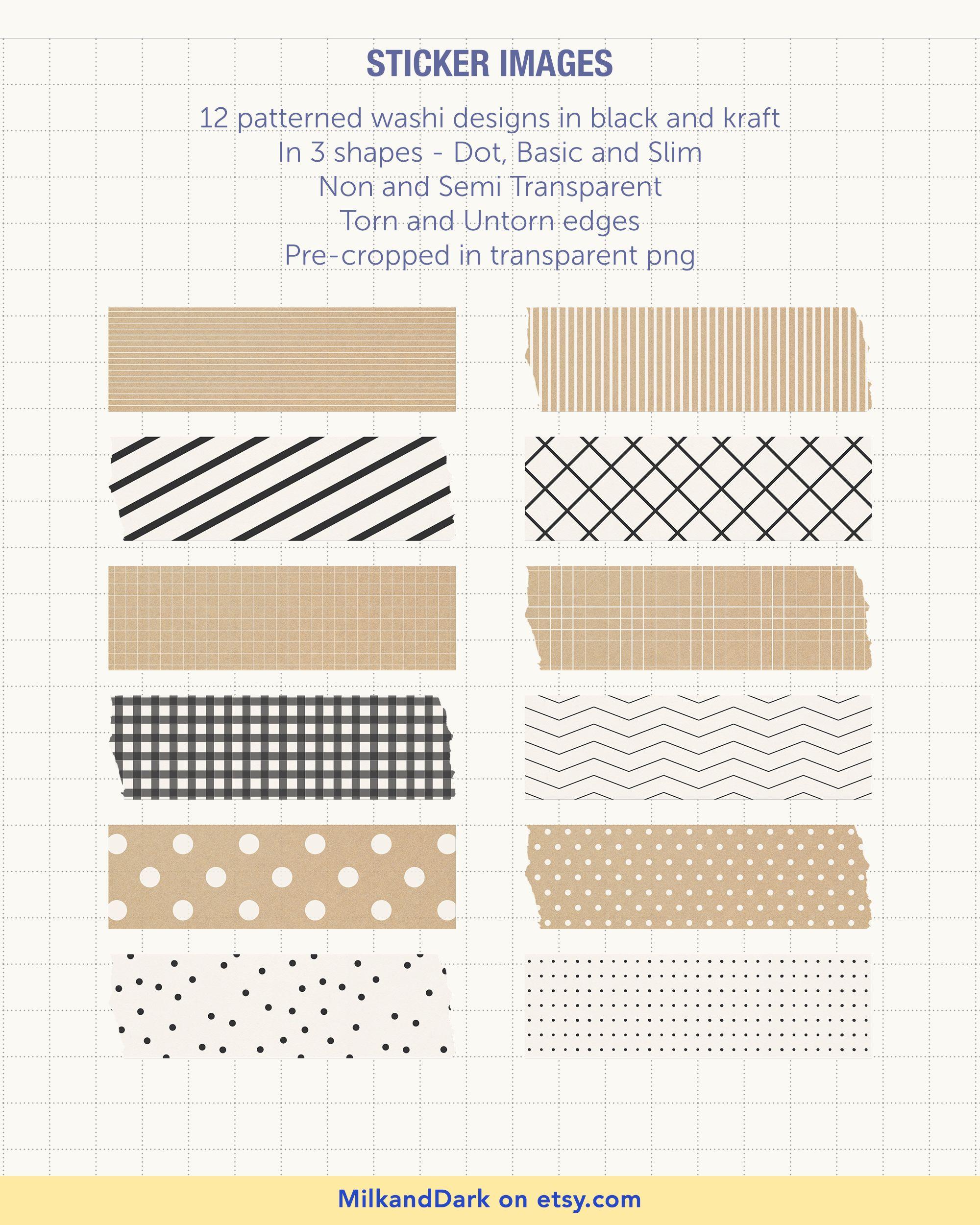Digital Patterned Washi Tapes Libreta De Apuntes Pegatinas Imprimibles Adornos Para Cuadernos