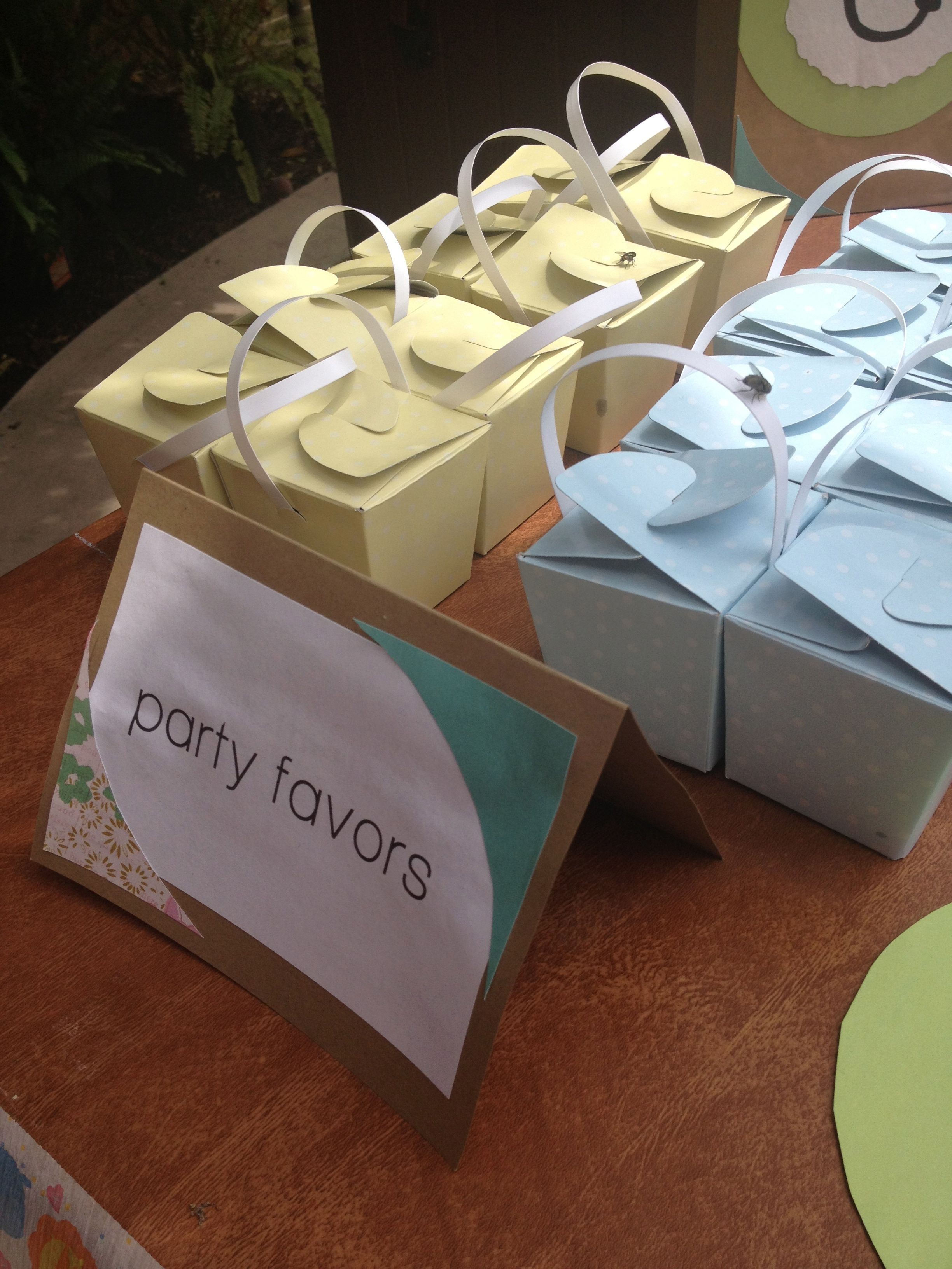 Baby Shower Favors To Buy ~ Another great find from the dollar tree gift boxes filled