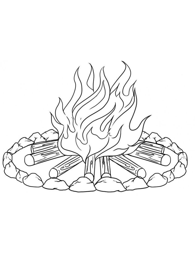 Fire Coloring Page Fire Is One Of The Energy Needed By Humans Many Things In This World Are Related T Coloring Pages Free Coloring Sheets Cool Coloring Pages