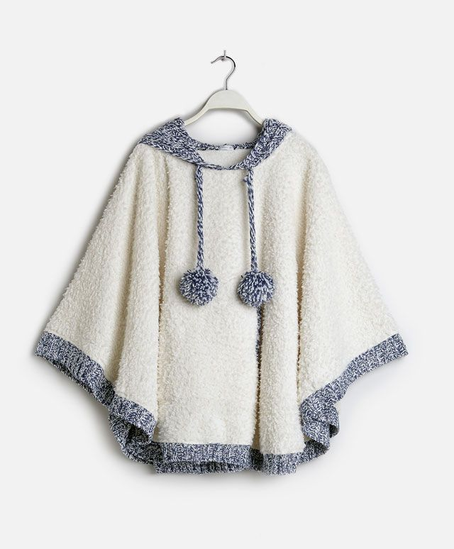 Knit hooded poncho - OYSHO … | cape | Pinte…