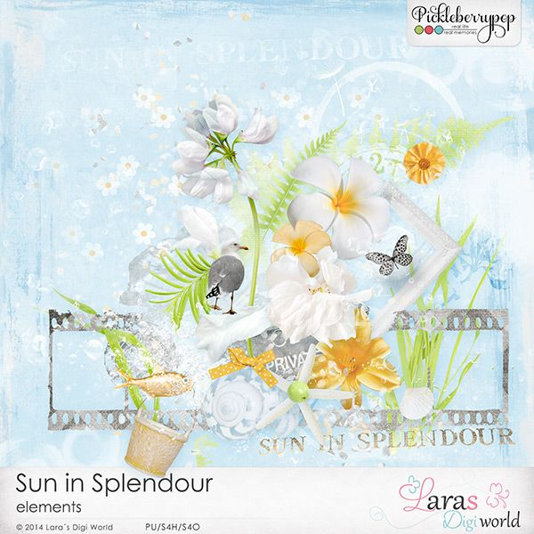 Sun in Splendour Elements by Lara's Digi World