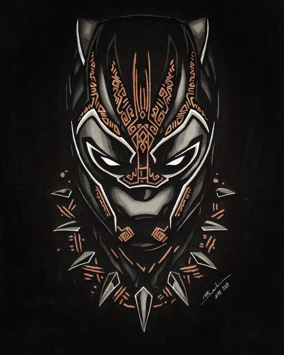 Black Panther May 2018 Black Panther Tattoo Black Panther Marvel Black Panther Drawing