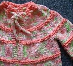 Ravelry Bamboozle Baby Striped Jacket Pattern By Barbara Breiter