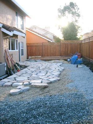 Recycling Concrete Form Old Sidewalks. And You Can Fill In With Sand Or  Pebbles Or Even Moss