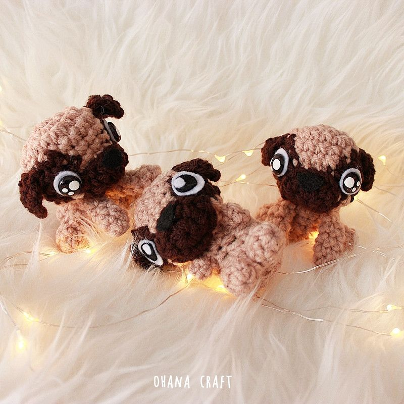 Pugness Year of Dog 2018 Free Crochet pattern | Crochet Gifts ...