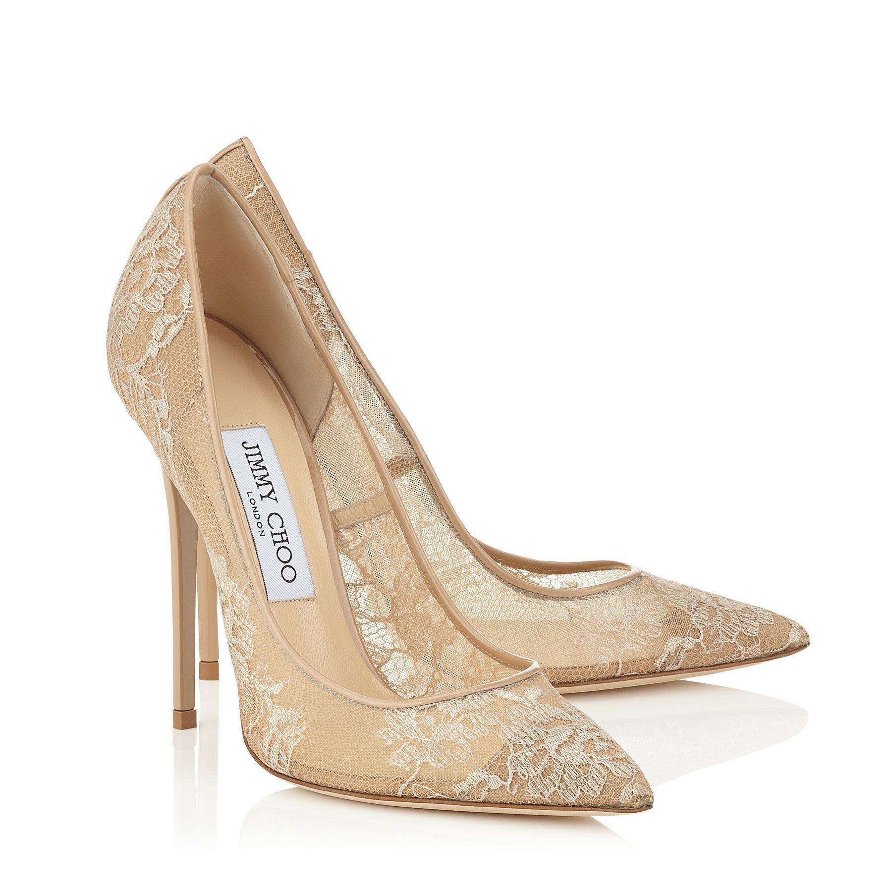 e0314421a Nude Lace Pointy Toe Pumps   Anouk   Pre Fall 15   JIMMY CHOO Shoes ...