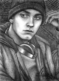 Eminem drawing 8 mile