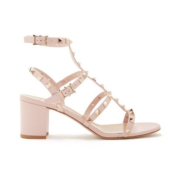 Valentino rockstud leather sandals 1045 liked on polyvore designer clothes shoes bags for women ssense floral sandalspink mightylinksfo Gallery