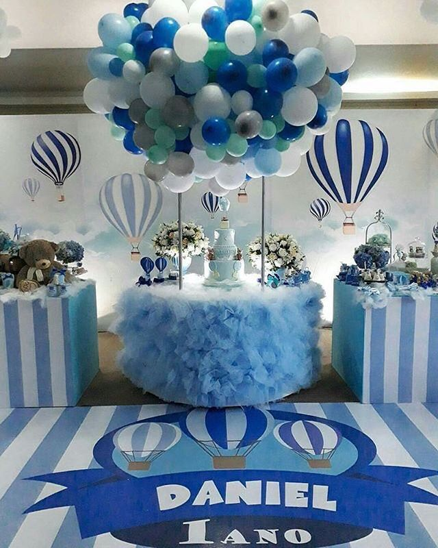 Hot Air Balloon Theme Shower Baby Showers Baby Shower Balloons