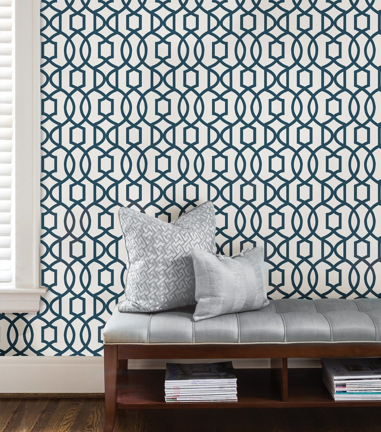 Or Create A Charming Accent Wall With Peel And Stick Paper That Can Be Easily Removed Home Depot Wallpaper Peel And Stick Wallpaper Trellis Wallpaper
