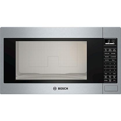 Bosch Hmb5051 2 1 Cu Ft 500 Series Built In Microwave Oven Stainless Steel Built In Microwave Built In Microwave Oven Stainless Steel Microwave