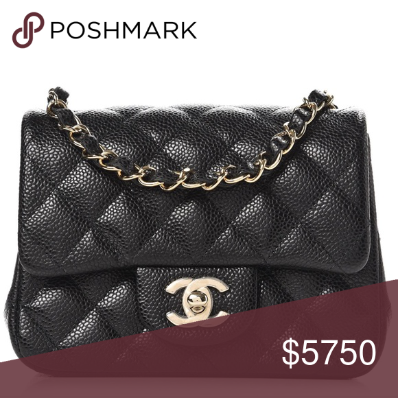 04dda7bf6940 {Chanel} 18S Black Caviar Mini Square LGHW Highly coveted, impossible to  find!