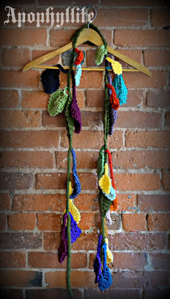 One of a kind multicolored hipster leaf garland by Apophyllite.   $65  apophyllite.etsy.com