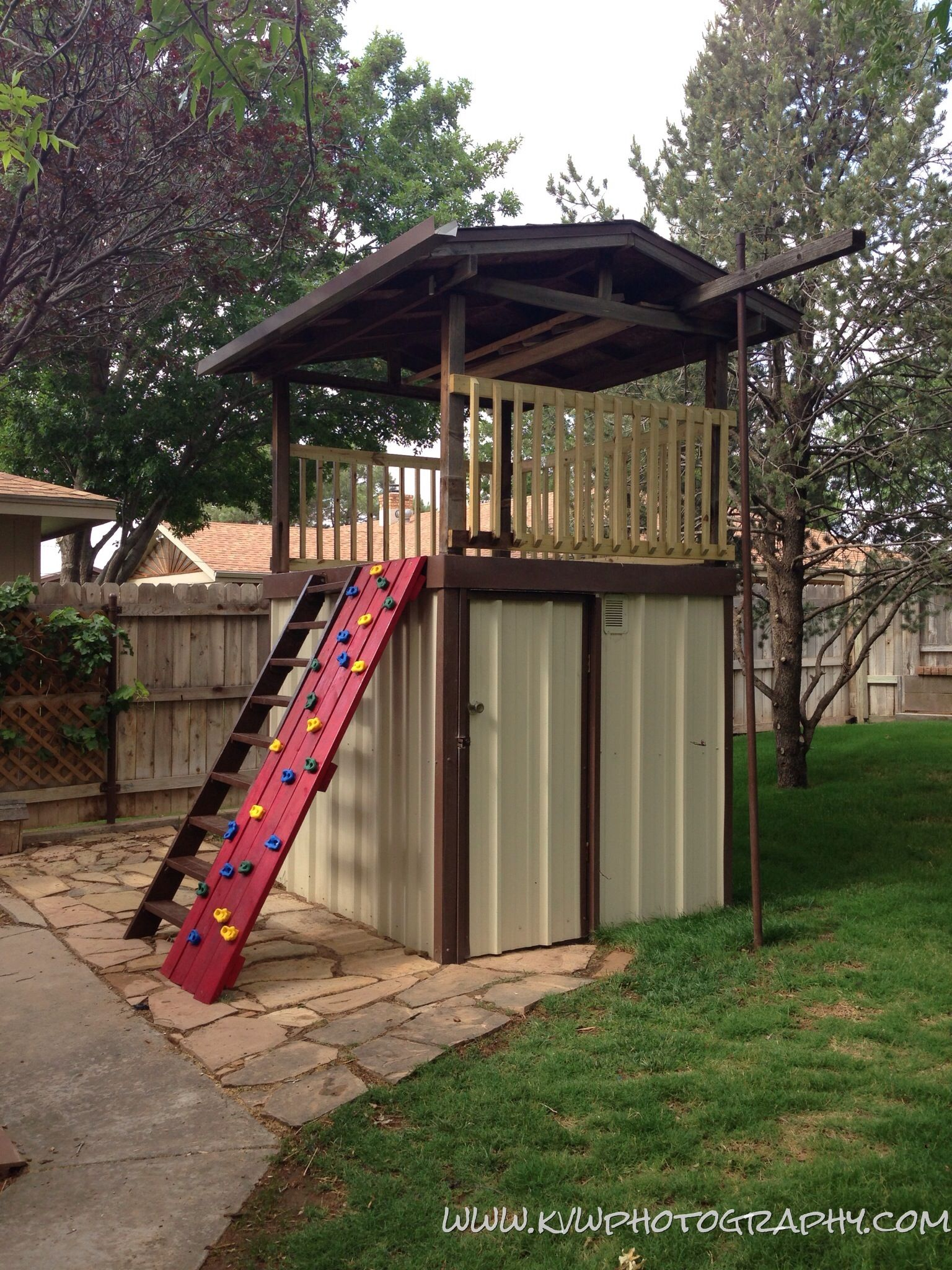old fort turned into storage shed then back into a storage shed