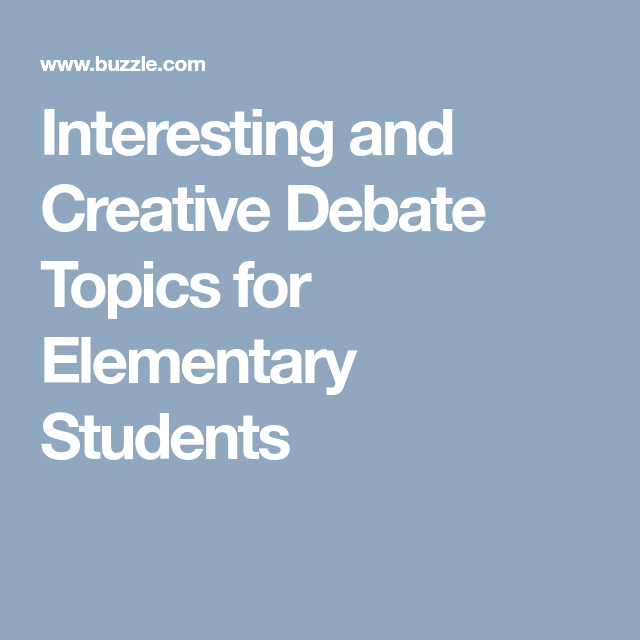 Debate Continues On Shooting Drills With Students: Interesting And Creative Debate Topics For Elementary