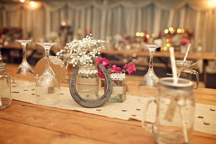 decoration table mariage theme cheval