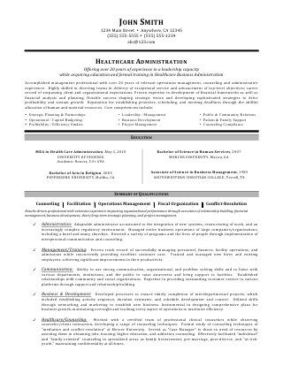 Healthcare Manager Resume Healthcare Administration Resumemia Ccoleman  Professional .