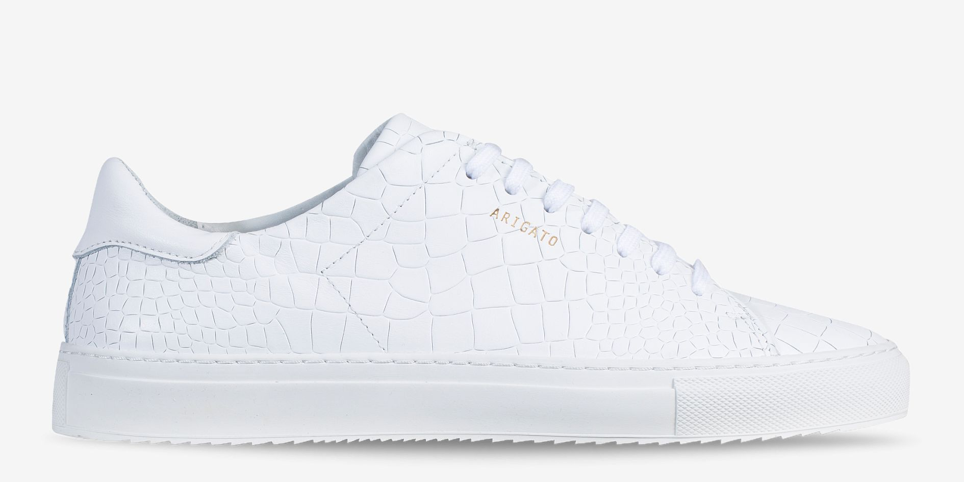 info for be0fe 2ad11 AXEL ARIGATO - Clean 90 Sneaker White Cayman Embossed Leather