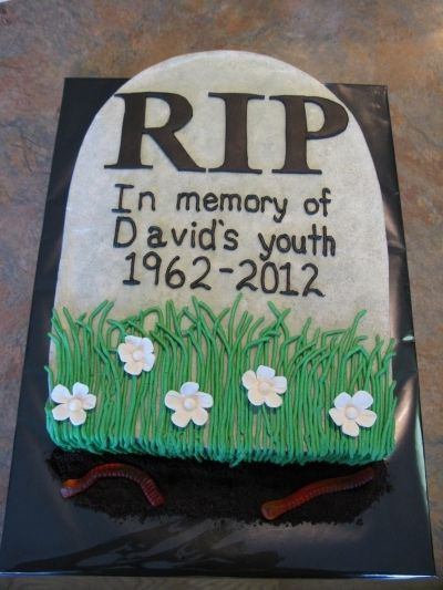 Stupendous Over The Hill Tombstone With Images Over The Hill Cakes Personalised Birthday Cards Vishlily Jamesorg