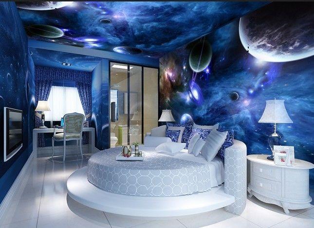 Bildtapete schlafzimmer ~ Beleuchtung im schlafzimmer mit d wandpaneele und pendelleuchten