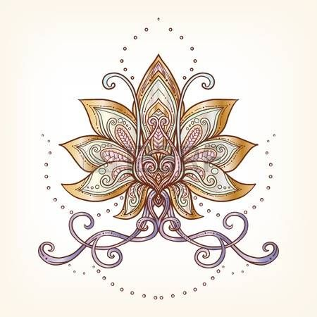 Lotus flower tattoo designs vector ornamental lotus flower ethnic lotus flower tattoo designs vector ornamental lotus flower ethnic art patterned indian paisley mightylinksfo