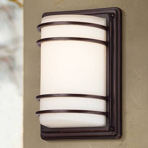 Habitat 11 high bronze indoor outdoor led wall light indoor 7999 habitat collection 11 high indoor outdoor led wall light workwithnaturefo