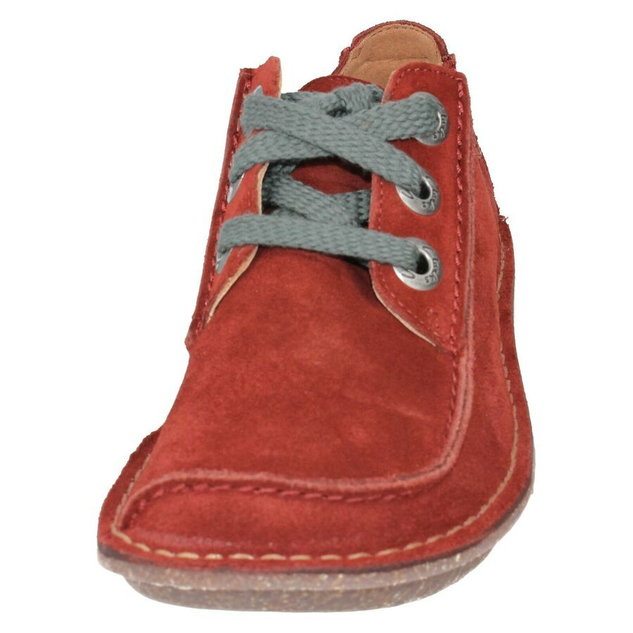 LADIES CLARKS LACE UP LEATHER CASUAL