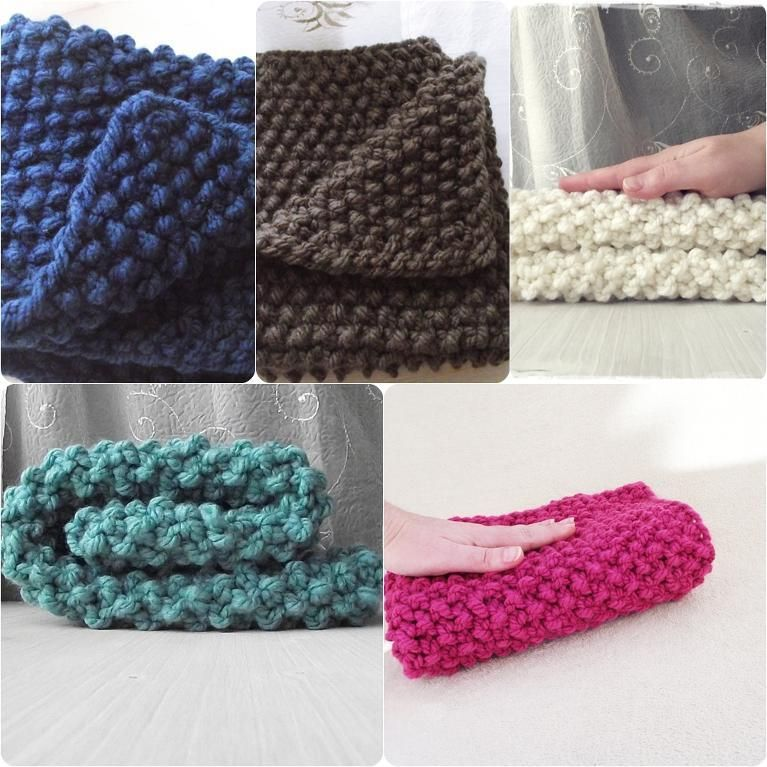 Chunky baby blanket great for beginners | Chunky knitting ...