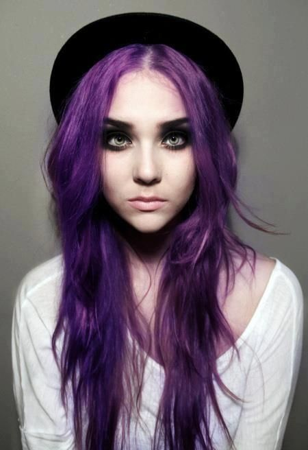 How to Dye Your Hair Purple | 16th, Long purple hair and Hair coloring