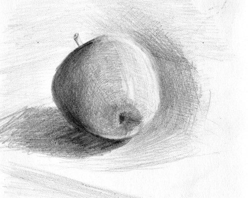 Dessin d 39 une pomme au crayon graphite paintings and - Dessin pomme apple ...