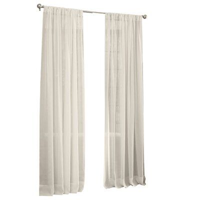 Rosdorf Park Moser Voile Solid Sheer Single Curtain Panel Curtain