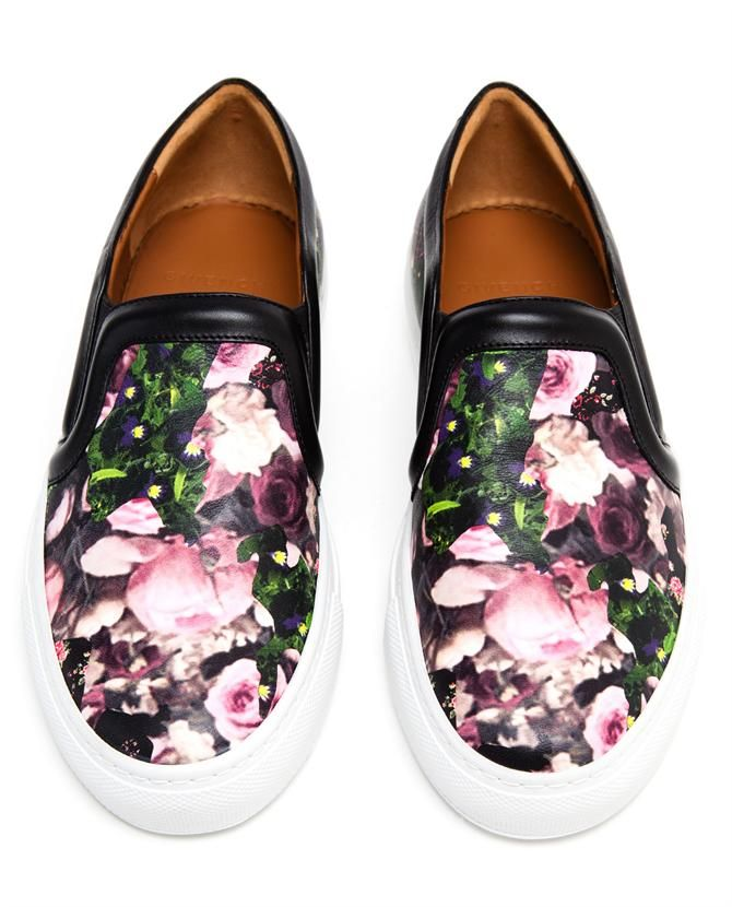 givenchy floral printed leather skater shoes givenchy