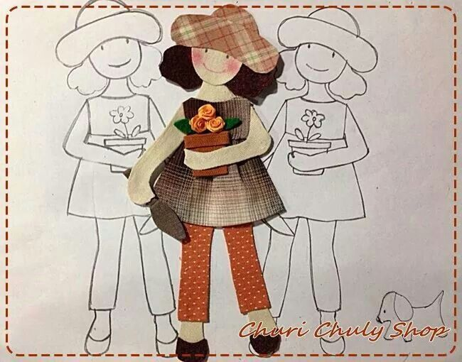 Combine felt  embroidery...