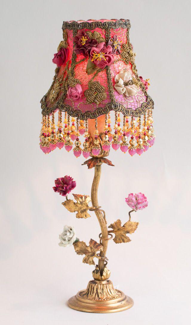 Shabby Chic Lamp Shades Diy Lace