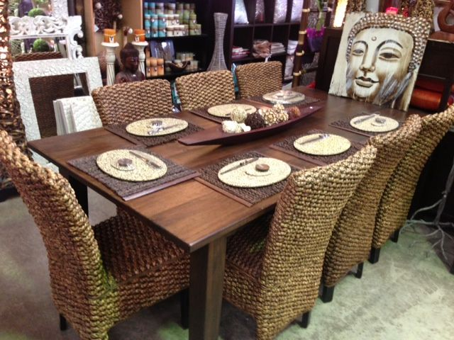 Superior Recycled Mango Wood Dining Table U0026 Water Hyacinth Chairs, Love These Chairs.......Mas  Dian
