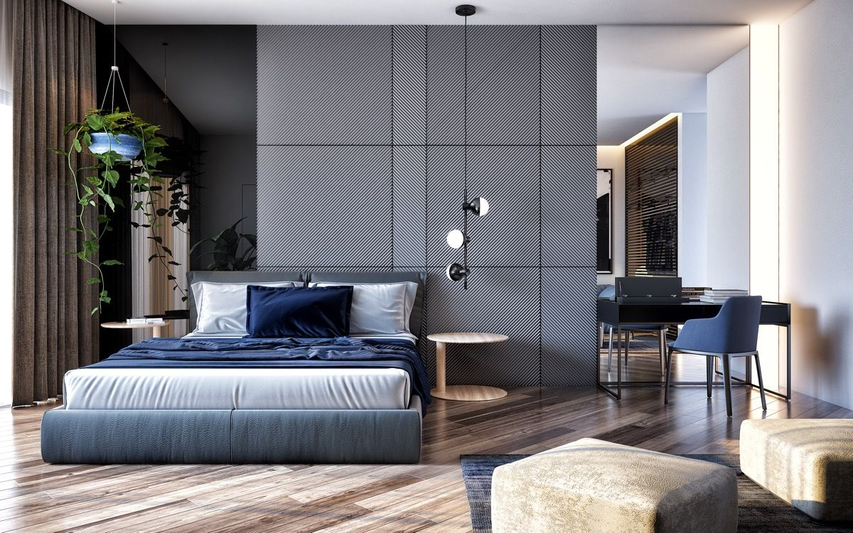 44 awesome accent wall ideas for your bedroom modern on accent wall ideas id=28841